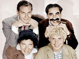 Top, from left: Zeppo Marx, Groucho Marx; bottom: Chico Maarx, Harpo Marx (the Marx Brothers) Print