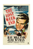 THE LOST WEEKEND, Ray Milland, 'Style A' 1-sheet poster art, 1945 Print