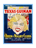QUEEN OF THE NIGHT CLUBS, Texas Guinan on US poster art, 1929 Poster