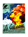 THE RAVEN, (aka LE CORBEAU),  French poster, center: Micheline Francey, Pierre Fresnay, 1943 Prints