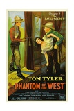 THE PHANTOM OF THE WEST, left: Tom Tyler in 'Chapter 9: The Fatal Secret', 1931. Posters