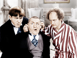 The Three Stooges, from left: Moe Howard, Curly Howard, Larry Fine, ca. 1940s Print