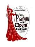THE PHANTOM OF THE OPERA, 1925. Gicléetryck på högkvalitetspapper
