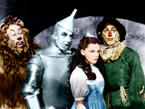 THE WIZARD OF OZ, from left: Bert Lahr, Jack Haley, Judy Garland, Ray Bolger, 1939 Photographie