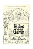 THE RULES OF THE GAME, (aka LA REGLE DU JEU), US re-release poster art, 1939 Prints