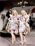 THE DOLLY SISTERS, from left: Betty Grable, June Haver, 1945. Photo