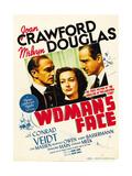A Woman's Face, Conrad Veidt, Joan Crawford, Melvyn Douglas on window card, 1941 Plakat
