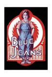 BLUE JEANS, Viola Dana, 1917 Poster