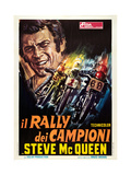ON ANY SUNDAY, (aka IL RALLY DEI CAMPIONI), Italian poster, Steve McQueen, 1971 Affiches