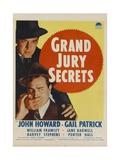 GRAND JURY SECRETS, midget window card, 1939 Posters