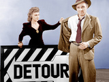 DETOUR, from left: Ann Savage, Tom Neal, 1945 Photo