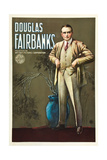Douglas Fairbanks, Sr. on 1920s publicity poster Prints