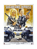 SUGARLAND EXPRESS, (aka THE SUGARLAND EXPRESS), French poster, Goldie Hawn, William Atherton, 1974 Print