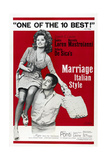 MARRIAGE ITALIAN STYLE, US poster, Sophia Loren, Marcello Mastroianni, 1964 Art