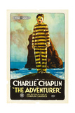 THE ADVENTURER, Charles Chaplin, (aka Charlie Chaplin), 1917 Art