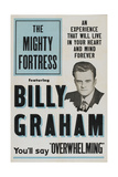 THE MIGHTY FORTRESS, Billy Graham, 1955 Affiches