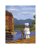 The Road to Portofino Giclee Print by Bryan Ubaghs