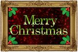 Merry Christmas Faux Framed Holiday Plastic Sign Znaki plastikowe