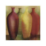 Four Vases Giclee Print by Debra Jones