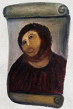 Ecce Homo Botched Restoration Plastic Sign Plastic Sign