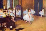 Edgar Degas The Dance Hall Plastic Sign Plastikskilte af Edgar Degas