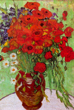 Vincent Van Gogh Still Life Red Poppies and Daisies Plastic Sign Plastic Sign by Vincent van Gogh