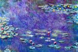 Claude Monet Water Lily Pond 3 Plastic Sign Wall Sign by Claude Monet