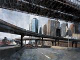 Under the Brooklyn Bridge Print on Canvas by Marti Bofarull