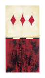Three of Diamonds Giclee Print by Elizabeth Jardine