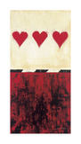 Three of Hearts Giclee Print by Elizabeth Jardine