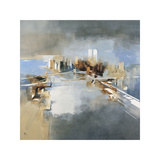 Brooklyn and Manhattan Bridges Giclee Print by Joan Farré
