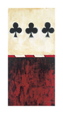 Three of Clubs Giclee Print by Elizabeth Jardine