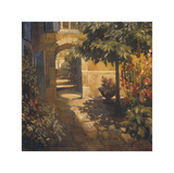 Courtyard in Provence Giclee Print by Philip Craig