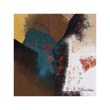 Teal Abstract II Giclee Print by Cyndi Schick