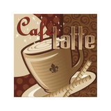 Cafe Latte Giclee Print by P.j. Dean