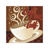 Cafe au Lait Giclee Print by P.j. Dean