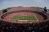 Chiefs Football: Arrowhead Stadium Photographic Print by Charlie Riedel