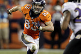 Broncos Football: Wes Welker Photographic Print by Joe Mahoney