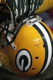 Packers Football: Green Bay Packers Helmet Print by Tom Gannam