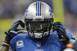 Lions Football: Calvin Johnson Fotografisk trykk av Paul Sancya
