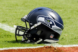 Seahawks Football: Seattle Seahawks Helmet Plakater av Mike McCarn