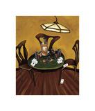 Poker Nite Giclee Print by Krista Sewell
