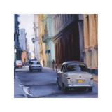Slow Ride - Havana, Cuba Giclee Print by Keith Wicks