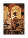 Rendezvous au Bistro Giclee Print by Trish Biddle