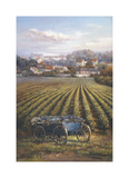 Grapes on Blue Wagon Giclee Print by A.J. Casson