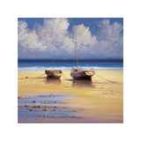 Restful Moorings Giclee Print by David Short
