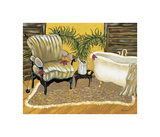 Canary Bath Giclee Print by Krista Sewell