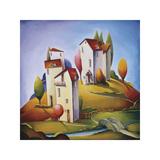 Bridge to the Village Giclee Print by Nina Dmitrieva