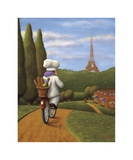 The Road to Paris Giclee Print by Bryan Ubaghs