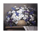 Daisies and Delphiniums Giclée-tryk af Victor Santos